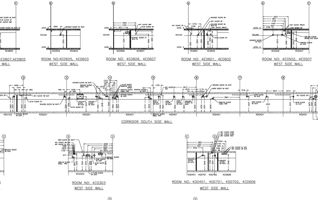Electrical Services Drawing 2d Design Drawings Mep Hvac