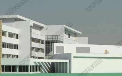 Architectural BIM 3d model