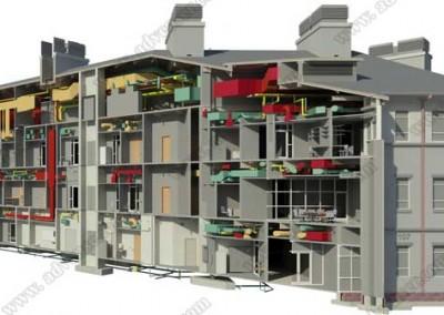 Architecture MEP BIM model