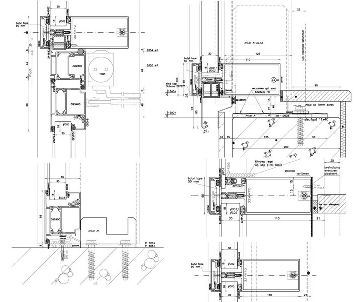 curtainwall 2d drafting