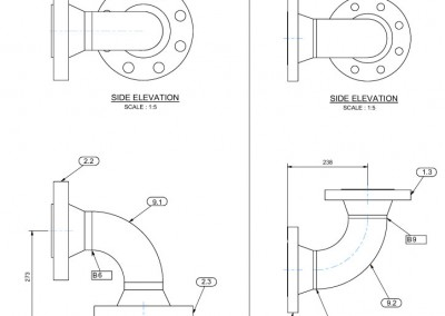 Mechanical spool drawings