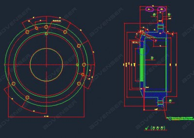 Mechanical shop drawing