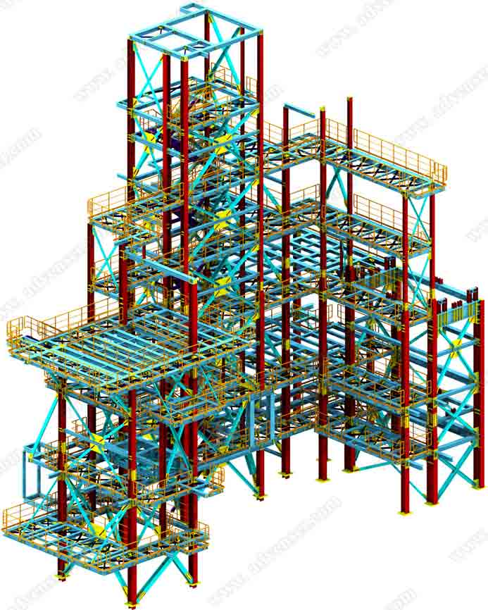 Structural Steel detailing & drafting Services - 1000+
