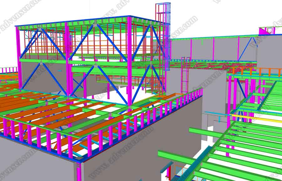 Samples - Structural BIM modeling, steel detailing, shop drawings
