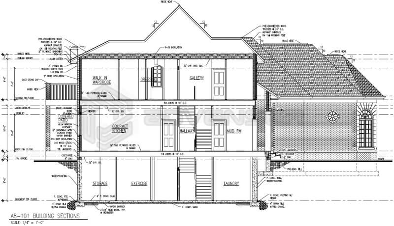Architectural CAD drafting for Residential Building