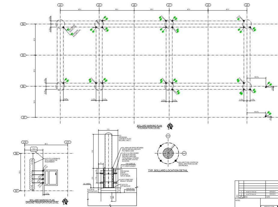 45 degree alignment for drawing presentation
