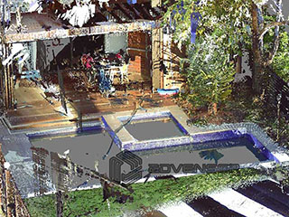 Point cloud model of pool