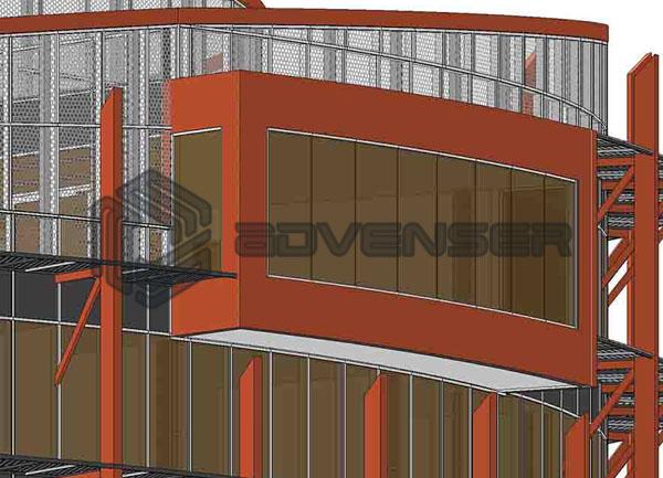 curtain wall facade detailing