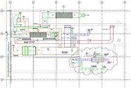 MEP duct drawing