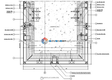 Facade fabrication drawing