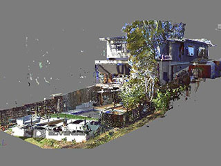 Point cloud model of rear side site
