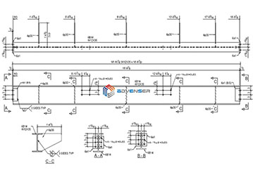 Structural steel shop drawing