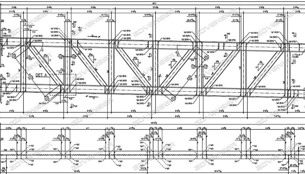 Steel fabrication drawings
