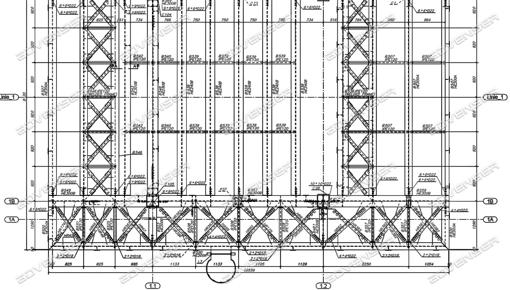 Structural fabrication drawings