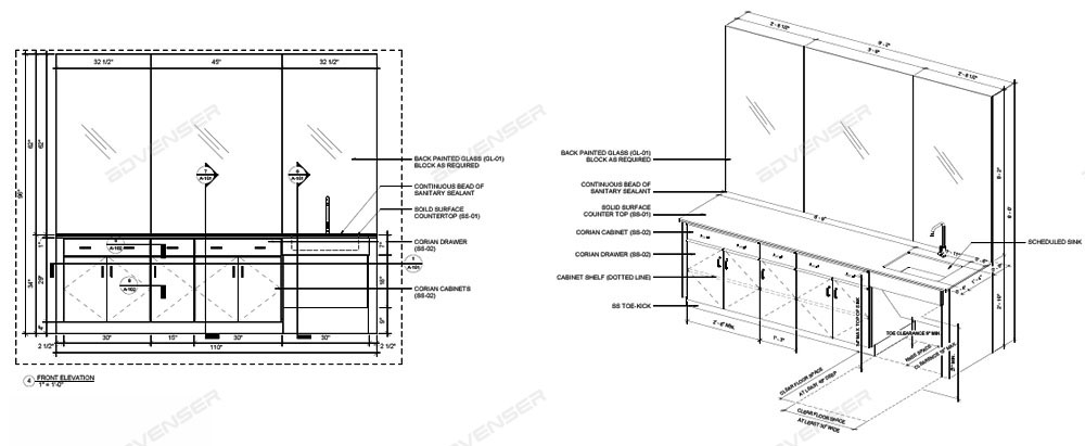 Millwork shop Drawing