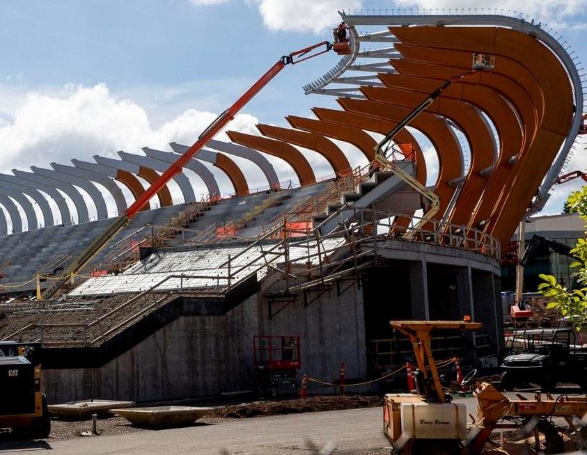 Stadium model using BIM service