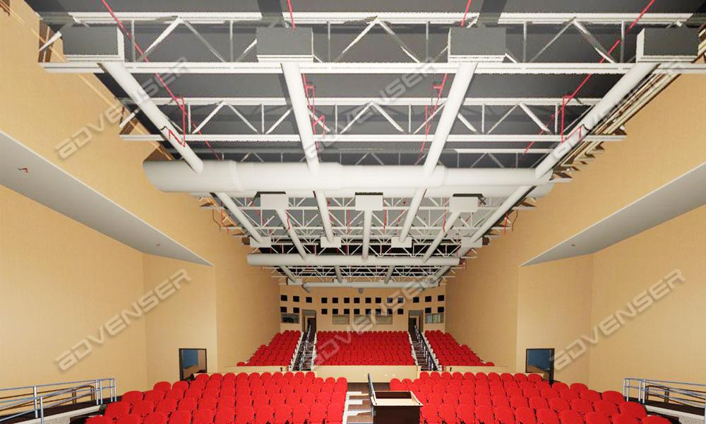 BIM model of a hall