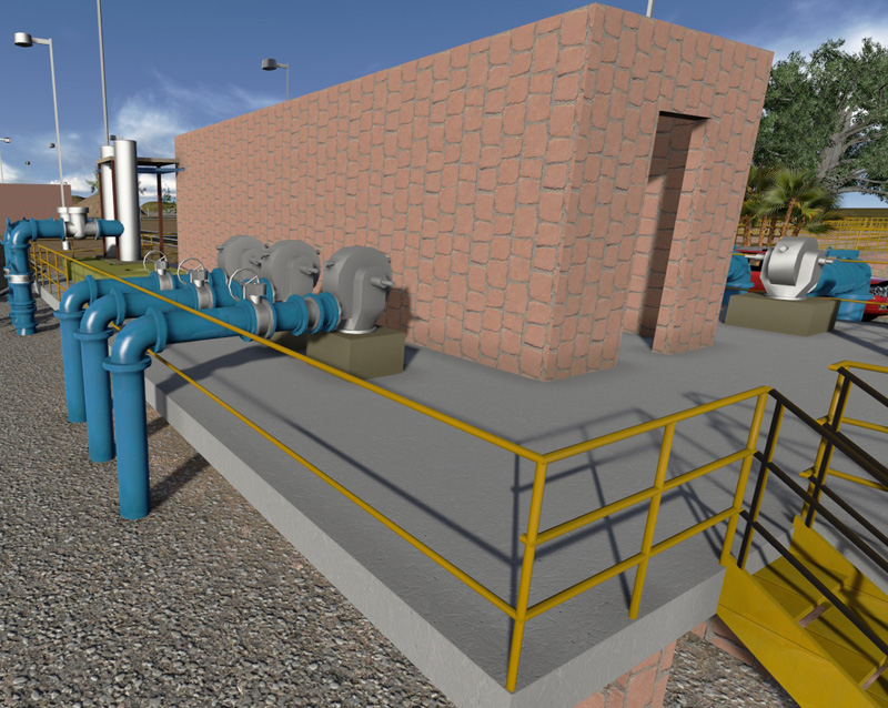 Water treatment plant model