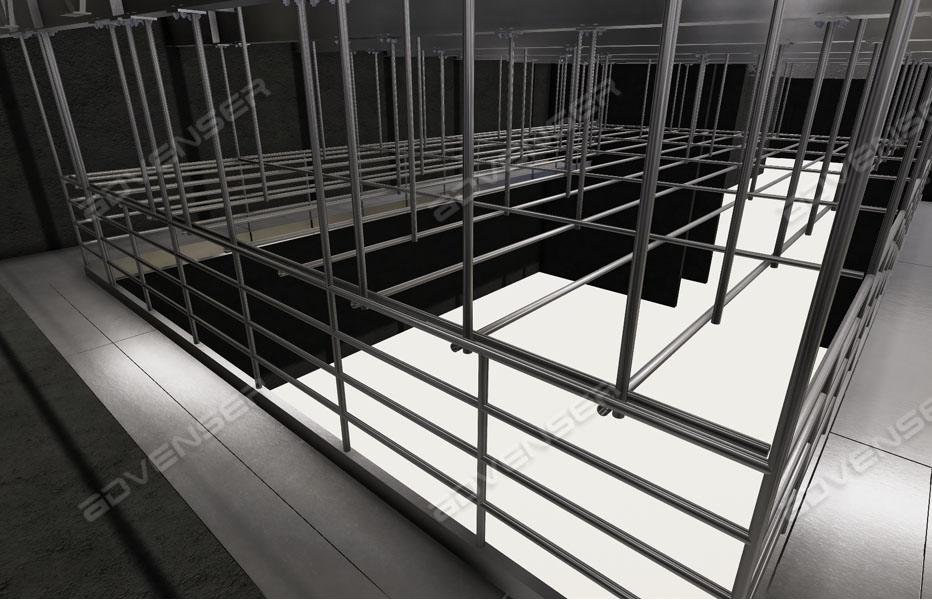 Structural steel staircase