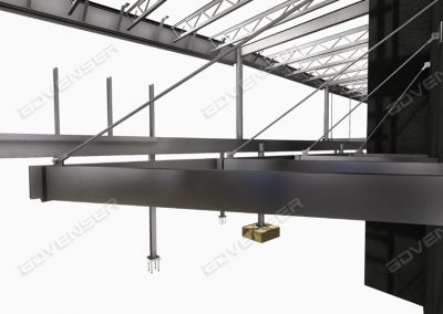 Structural steel canopy