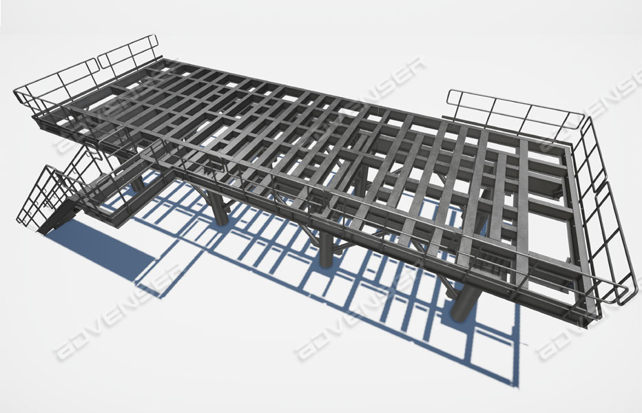 Structural steel platforms