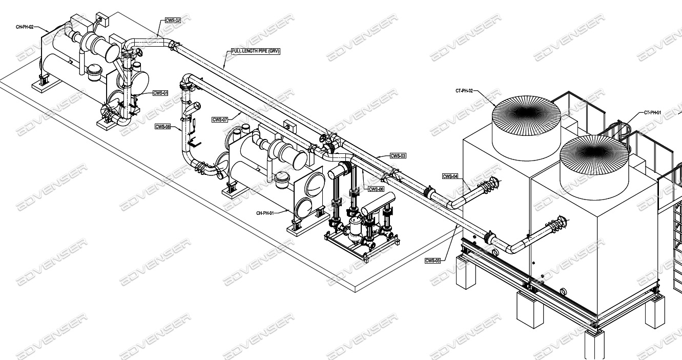 pipe spool fabrication drawing