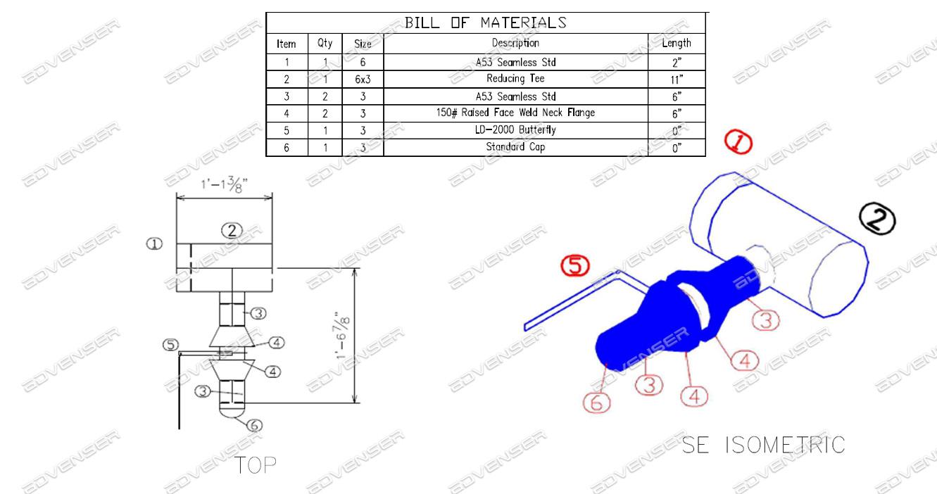MEP spool drawing