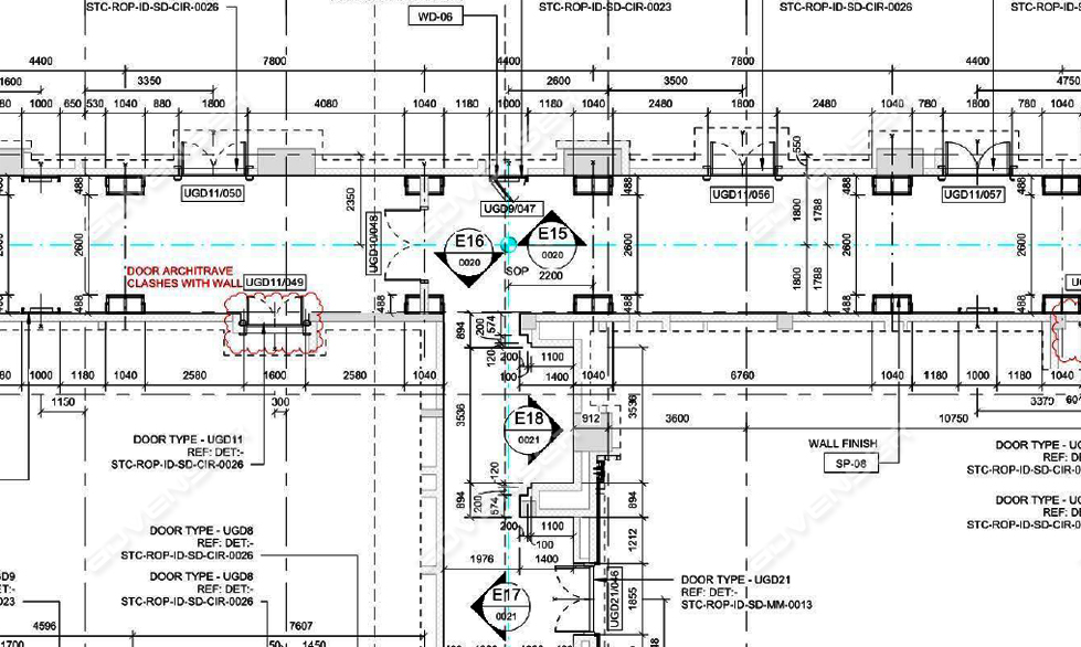 Construction Drawing of a commercial building