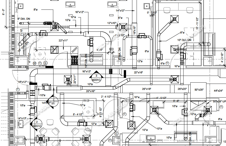 HVAC Duct Shop Drawings | Ductwork Layout Drawings | Advenser | Hvac Duct Drawing |  | Advenser