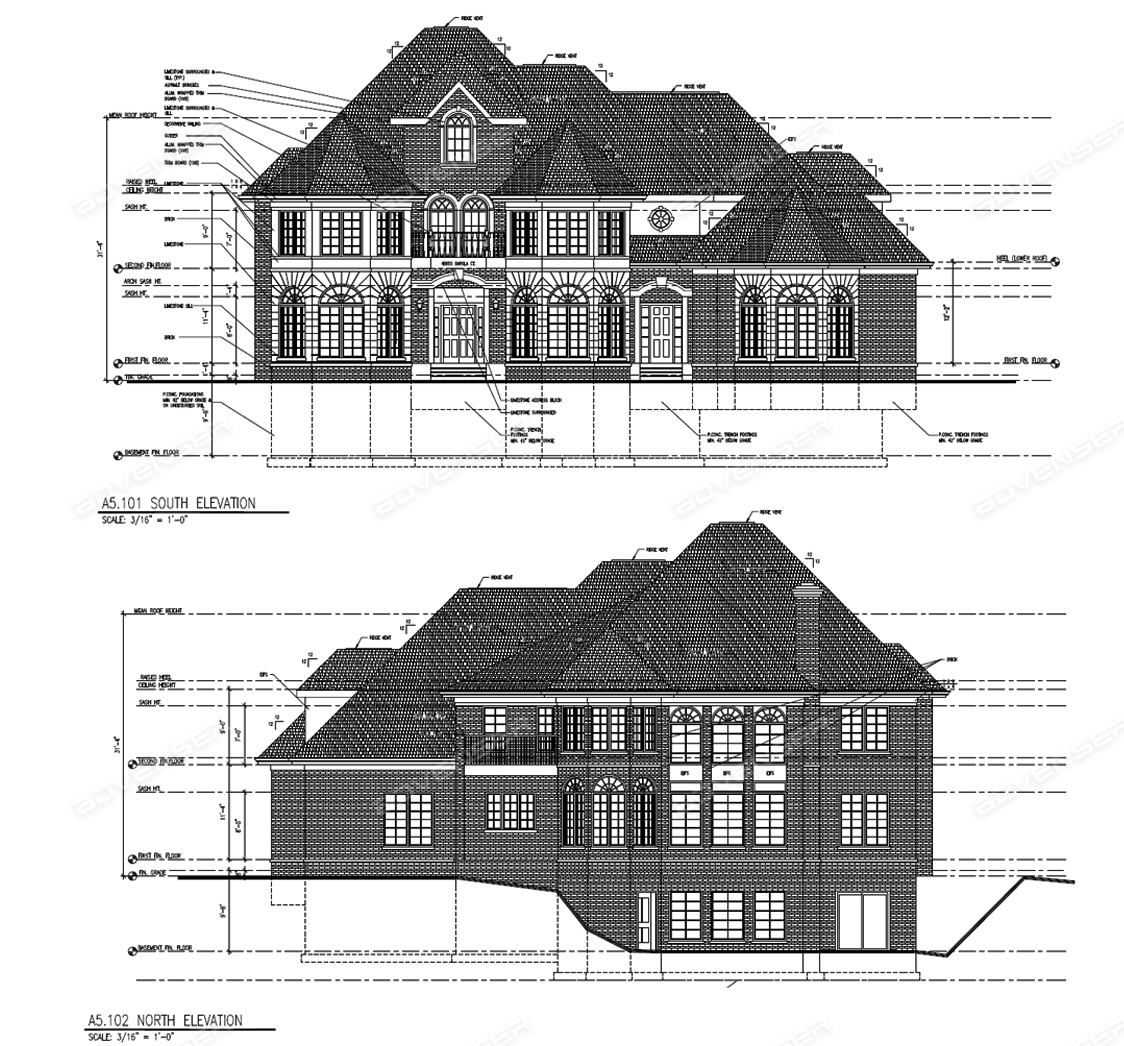 Final approved elevation