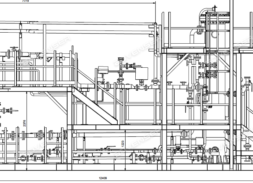 Mechanical general assembly drawing