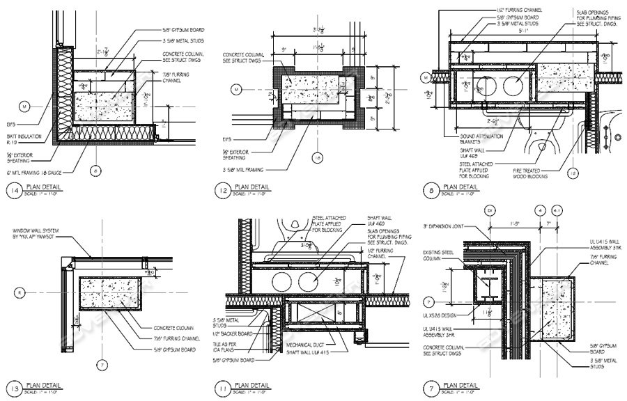 construction drawing for a commercial building