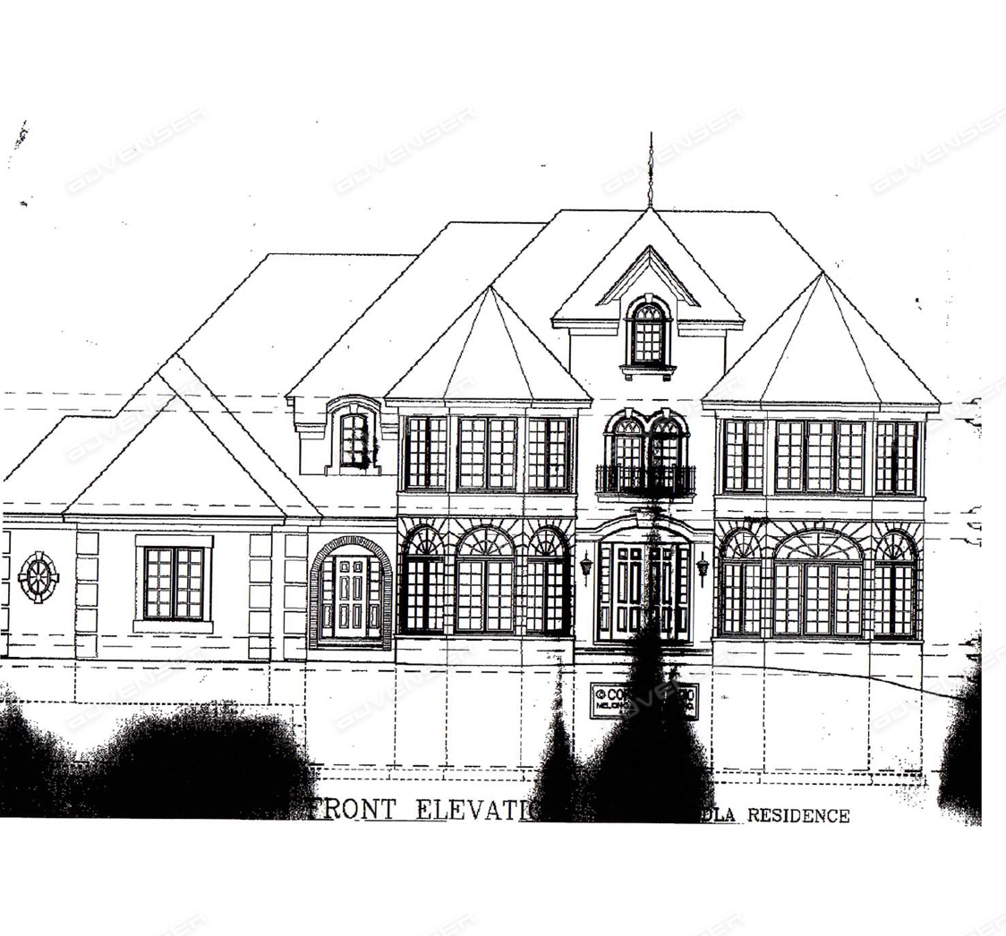 Preliminary elevation sketch received from client