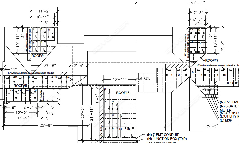 construction drawing for MEP elements