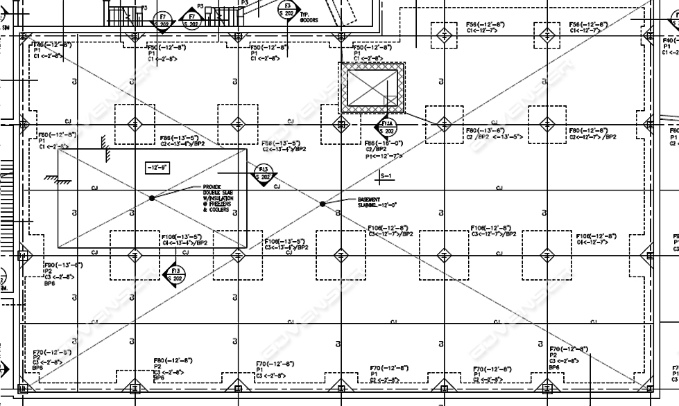 structural construction drawing