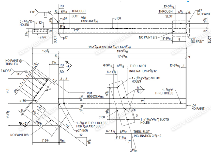 steel Assembly drawing