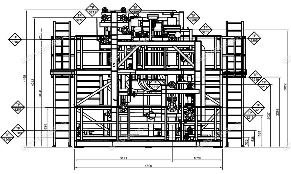 Mechanical GA drawing