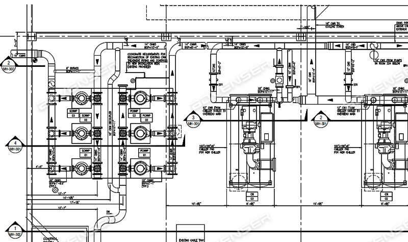 MEP Drafting Services - Mechanical, Electrical, Plumbing, HVAC | Hvac Isometric Drawing |  | Advenser