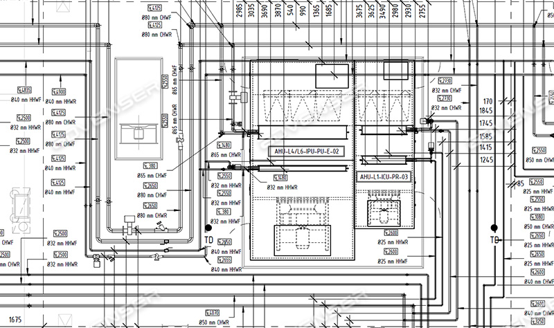MEP/HVAC Shop Drawings Services: ductwork, plumbing, piping & more | Hvac Drawing Conventions |  | Advenser
