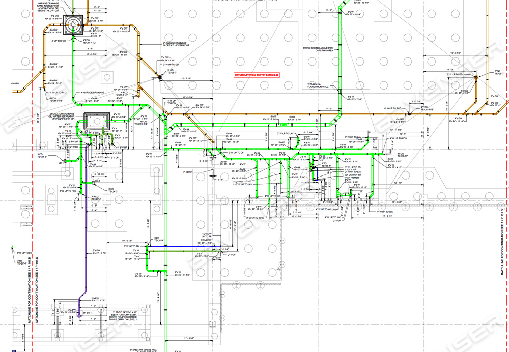 Plumbing shop drawings